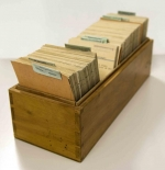 one of three boxes of index cards itemising Rothschild collections