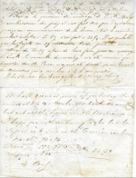 Pigeon post letter 1846