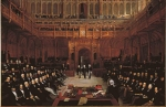 Lionel de Rothschild being introduced into the House of Commons 1858