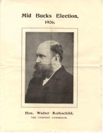Election address by Walter Rothschild 1906