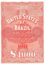 United States of Brazil bond issued by N M Rothschild & Sons 1911