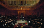 Lionel de Rothschild being introduced into the House of Commons in 1858
