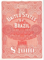 Brazilian bond issued by N M Rothschild & Sons 1911