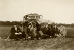 Members of the French Rothschild family and friends on a picnic in the 1930s