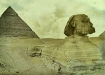 The sphinx from an early autochrome by Lionel de Rothschild