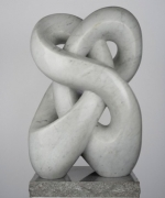 Double Infinity 1983 Carrara Marble by Jacqueline Piatigorsky