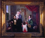 Anselm & Charlotte von Rothschild and their children and nurse by Charlotte
