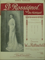 Front cover of the music score 'Le Rossignol' by Hannah Mathilde von Rothschild