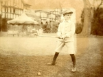 Anthony Gustav de Rothschild as a young boy playing golf at Ascott