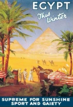 Travel poster for Egypt. Lionel de Rothschild took his family to Egypt on a 'Thomas Cook's Tour' in the 1920s.