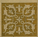 Design for a ceiling tile for the library of Gustave de Rothschild (1829-1911).