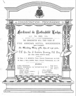 Consecration Programme for the Ferdinand de Rothschild Lodge in 1892