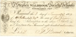 Receipt for a charitable donation to St Stephens Walbrook Society Schools in 1819