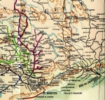 Map of Brazilian Railway Lines c.1920. The London house has a long history of involvement in Brazil dating from the early 1820s.