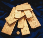 Gold bars from the Royal Mint Refinery