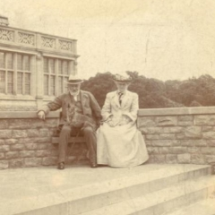 Nathaniel 1st Lord Rothschild and Lady Emma Rothschild at Ashton Wold