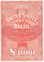 Brazilian bond issued by N M Rothschild & Sons in 1911
