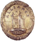 Badge of office (worn by Nathan Mayer Rothschild) of the Alliance British and Foreign Life and Fire Assurance Company 1825