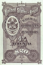 Bond for the United States of Brazil Railway Guarantees Recission 4% bond of 1899