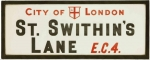 1930s glass and enamel street sign