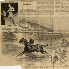 Press cuttings from Leopold's Derby victory