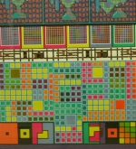 Detail of one of the Paolozzi screenprints
