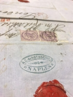 Envelope addressed to A C de Rothschild at the Naples house