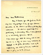 First page of a letter from Robert Baden Powell to Lord Rothschild
