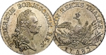Prussian silver thaler 1783. Struck under Frederick II 'The Great'. The thaler contains 0.537 troy ounces of silver.