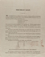 Prospectus for the Prussian Government loan 1818