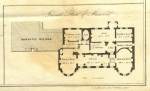 Detail of the floorplan of Gunnersbury Park Mansion from the 1835 sale particulars