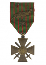 Croix de Guerre awarded to Robert de Rothschild