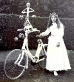 Entrant in the 'Grand Illuminated Cycle Parade to celebrate the Coronation of 1902. From an album of photographs of the Rothschild estate at Aston Clinton