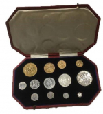 Edward The VII 'Coronation' Silver and gold coin set