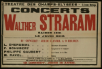 Poster advertising concerts by the Walther Straram Orchestra at the Theatre des Champs-Elysees in 1931