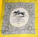 Silk scarf commemorating the Grand Prix de Paris won by Crudité in 1935