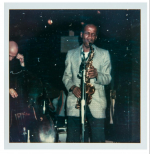 American jazz saxophonist Clarence Hardy 'C' Sharpe (1931-1990)