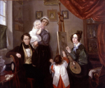 Anselm Salomon von Rothschild and his wife Charlotte with their children Nathaniel Mayer and Caroline Julie and a nurse