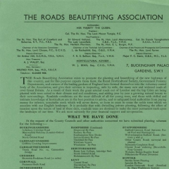 Roads Beautifying Association leaflet c1937