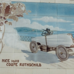 Tiles on the Michelin Building in London (1911) commemorating Léon Serpollet's third victory in the Coupe Rothschild