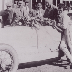 Philippe de Rothschild in a Bugatti at Le Mans