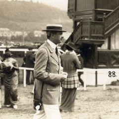 Photographs of members of the Rothschild family at the races in Vienna