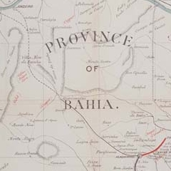 Bahia and San Francisco Railway prospectus map