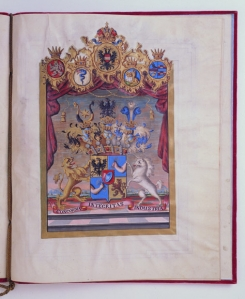 Baronial grant of arms to the Rothschild brothers