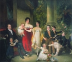 Nathan Rothschild and his family by Hobday 1823