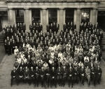 Staff of N M Rothschild & Sons in the courtyard of the second New Court 1962