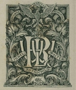 Book plate of Lionel Walter 2nd Lord Rothschild
