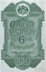 Chilean Government bond 1929