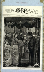 Report in The Graphic of the marriage of Leopold and Marie de Rothschild 1881