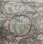 Detail of map returned with SPNR survey return No.118 (Greenham Common circled in red)